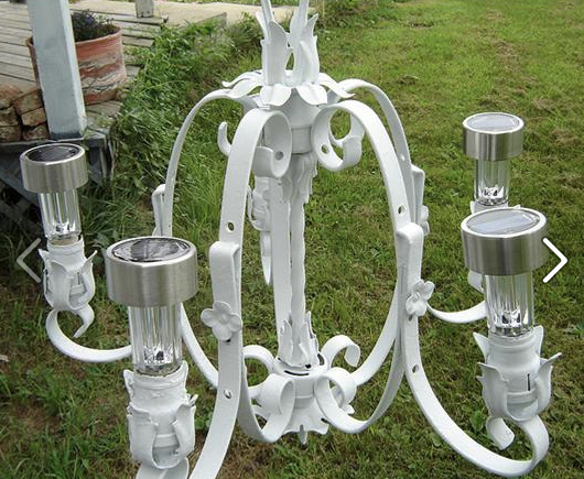 Solar chandelier the year of gardening dangerously a solar chandelier how perfect is that mozeypictures Gallery