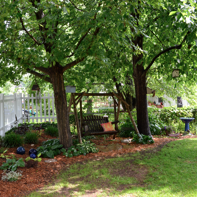 From The Garden Tour: I Love How This Gardener Took Advantage Of The Most  Mundane Of Spacesu2014a Simple Enclosure Created In The Space Between Two  Treesu2014to ...